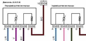 Схема подключения датчика кислорода Geely Emgrand